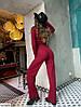 Женский костюм в рубчик двойка (кофта и свободные штаны), фото 6