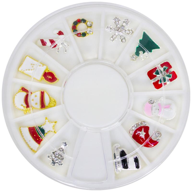 Металлический декор в каруселе новогодний