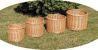 Набор плетенных горшков для цветов, фото 1
