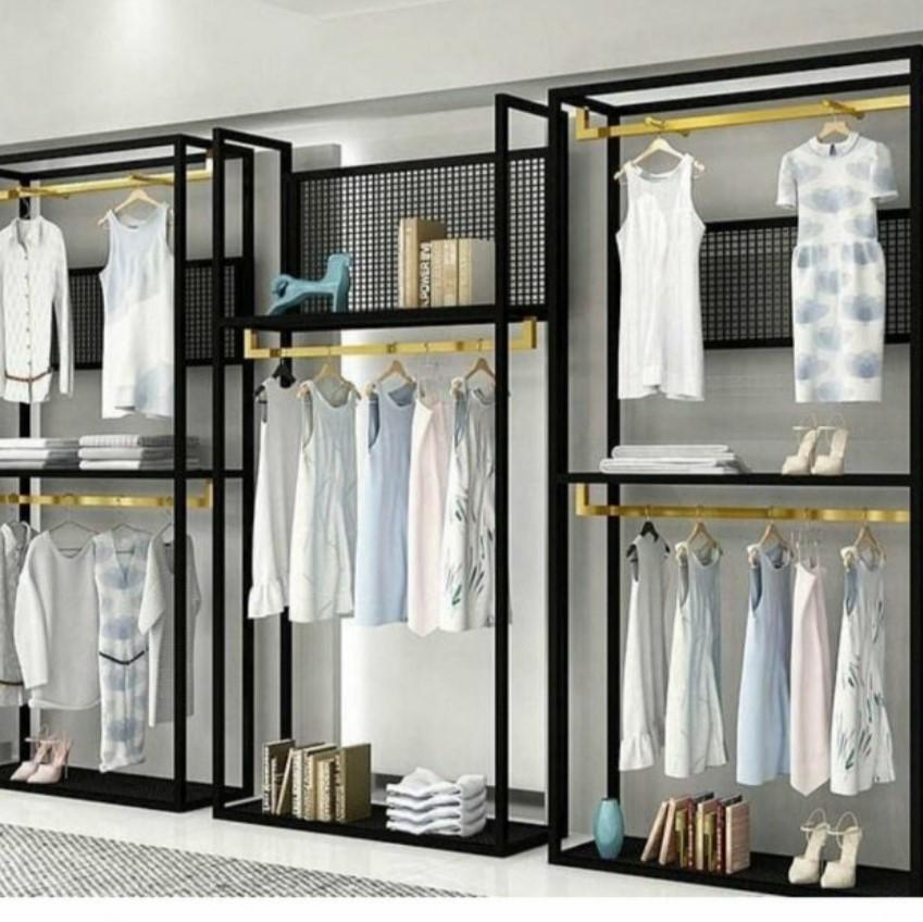 Пристенное торговое оборудование для магазина одежды лофт в любой комплектации