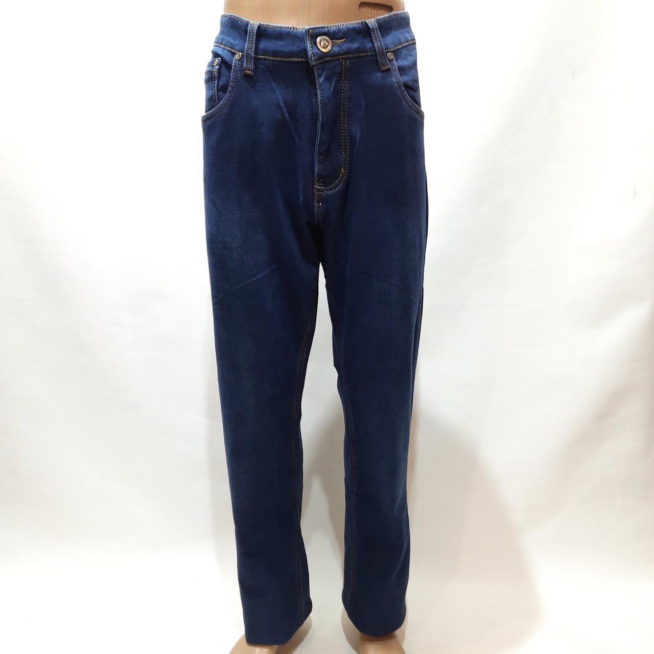 Зимние мужские джинсы (Большие размеры) Atwolves с высокой посадкой