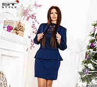Модное женское платье с болеро