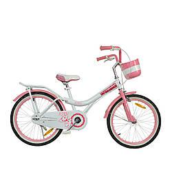 """Велосипед детский для девочки от 6-9 лет RoyalBaby JENNY GIRLS 20"""", OFFICIAL UA, белый"""