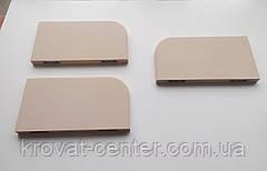 Полиця плита з невидимим кріпленням навісна (настінна) бежева, фото 3