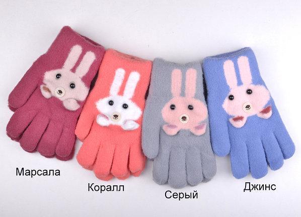 {есть:M( 4-5лет),L (5-7 лет)} Перчатки двойные с начесом для девочек,  M,L pp. Артикул: AR435 [M( 4-5лет)]