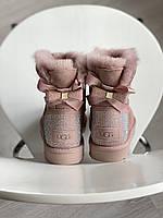 Зимние женские Угги Ugg Bailey Bow II, Розовые