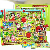 Игра со стилусом + мольберт «Белоснежка», деревянная игрушка.