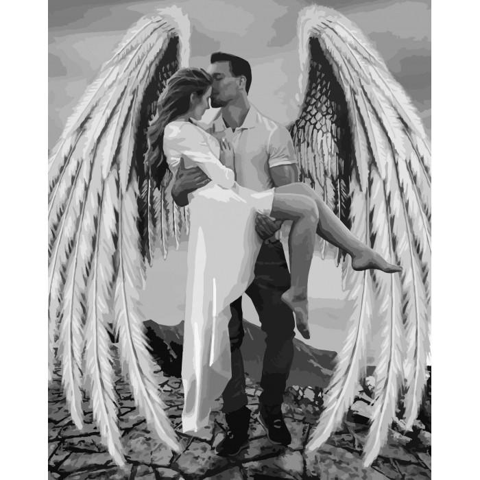 Картина по номерам - Мой ангел-хранитель Идейка 40*50 см. (КНО4511)