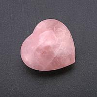 Сувенирный камень интерьерный Сердце Розовый Кварц цена за 100 грамм