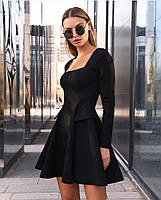 Жіноче плаття стильне із замші з поясом та кнопками (Норма), фото 3