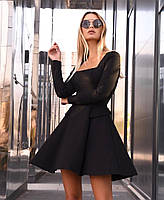 Жіноче плаття стильне із замші з поясом та кнопками (Норма), фото 5