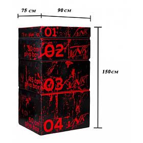 Тумби для вистрибування Плиобокс VNK комплект з 4 боксів 150 см