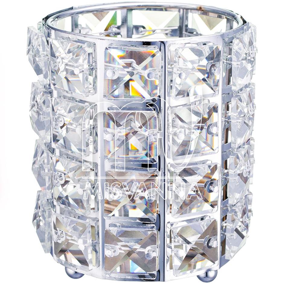 Стакан для хранения Crystal 004, серебро