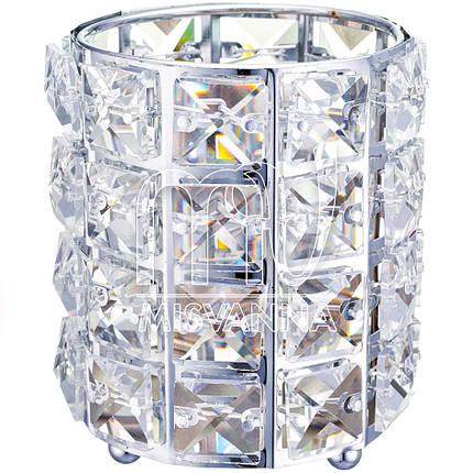 Стакан для хранения Crystal 004, серебро, фото 2