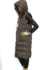 Жіночий плащ безрукавка з капюшоном, фото 2