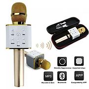 Bluetooth микрофон для караоке Q7 Блютуз микро + ЧЕХОЛ, 3 цвета