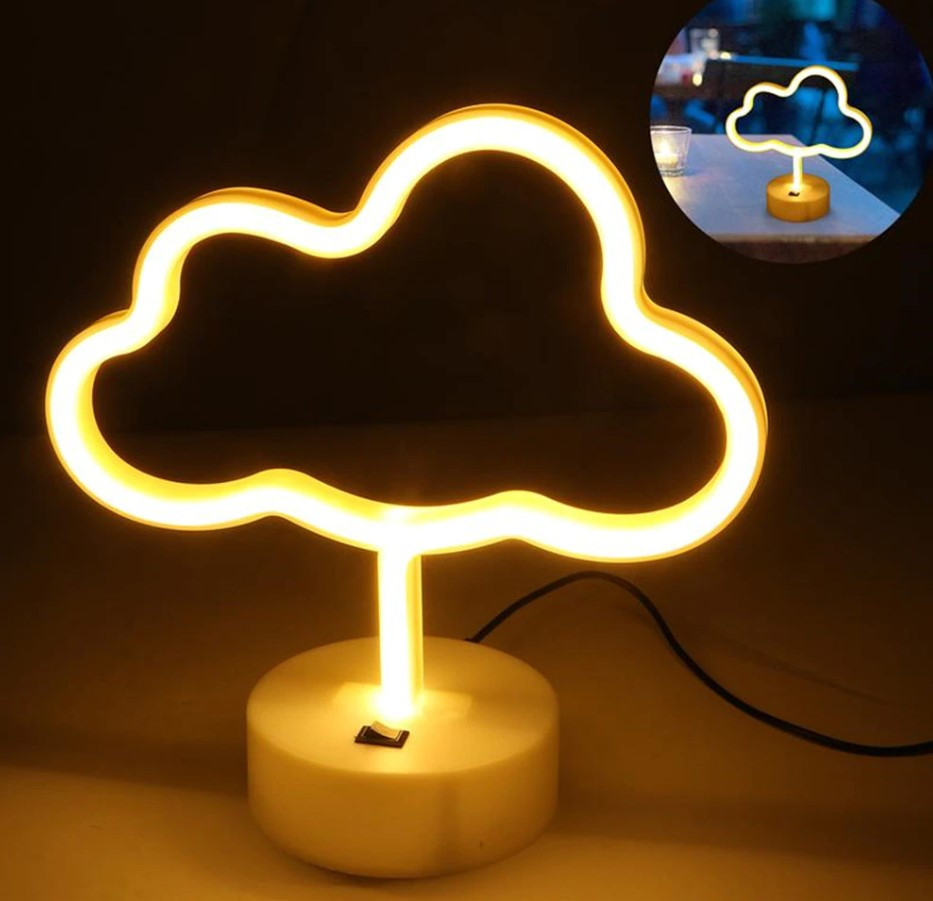 Ночник неоновый лампа Облако