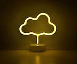 Ночник неоновый лампа Облако, фото 7