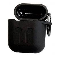 Силиконовый защитный чехол для беспроводных наушников Apple Airpods 2, Inpods i10 TWS и i12 TWS (черный)