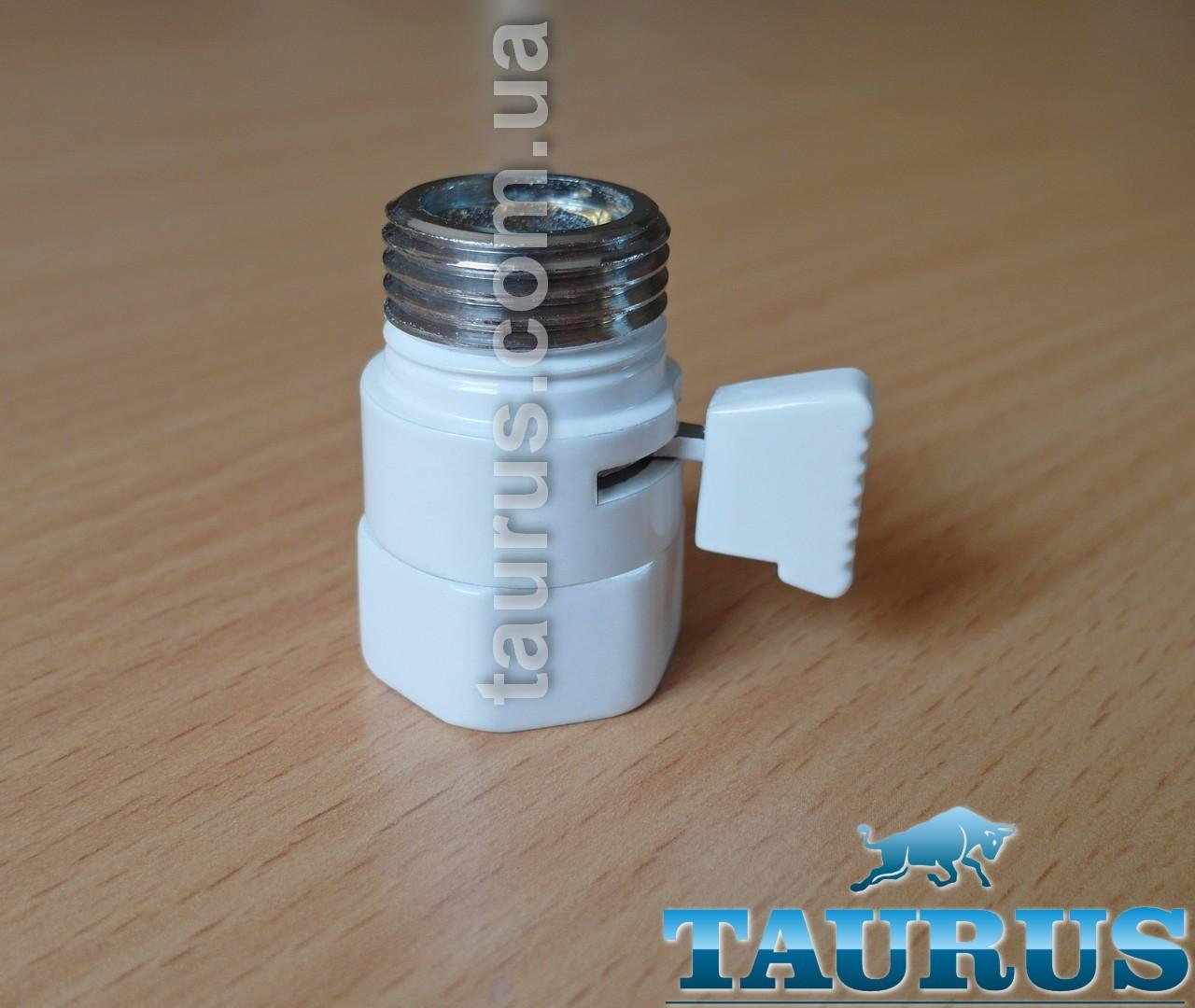 """Белый компактный Micro кран Eco White (Польша, 1/2"""") для скрытого подключения полотенцесушителей"""