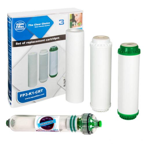 Комплект картриджей для фильтра Aquafilter FP3-HJ-K1