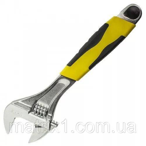 Ключ разводной профи, 250 мм, хромированный, двухкомпонентная ручка Сталь 41072