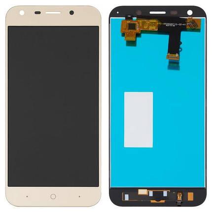 Дисплей (екран) для ZTE A6 Blade A0620 з сенсором (тачскріном) золотистий Оригінал, фото 2