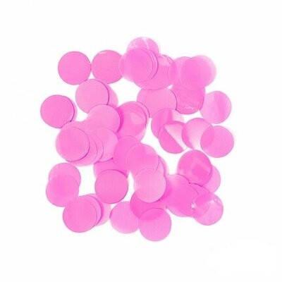 Конфетти розовое кружочки  23 мм  . вес  25 ГР