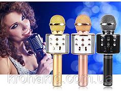 Беспроводной микрофон караоке Bluetooth WS858, 3 цвета, в коробке