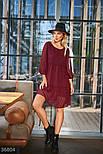 Свободное шифоновое платье-трапеция, фото 2