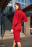 Облегающее платье с высоким боковым разрезом красное, фото 5