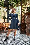 Твидовое платье в горошек с кружевом, фото 2