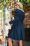 Твидовое платье в горошек с кружевом, фото 4
