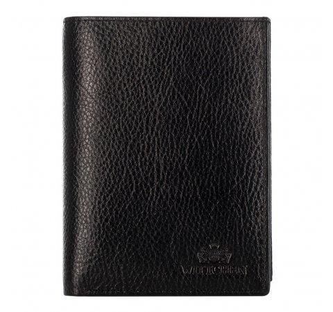 Мужской кожаный кошелек WITTCHEN черный 21-1-265-1