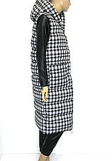 Жіноча куртка жилетка  з капюшоном, фото 2