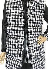 Жіноча куртка жилетка  з капюшоном, фото 3