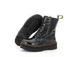 Женские ботинки Dr.Martens  JADON Galaxy кожа, ЗИМА. ТОП Реплика ААА класса., фото 3