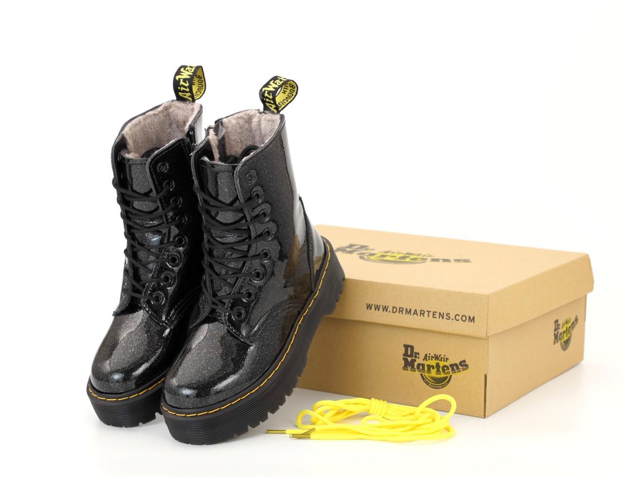 Женские ботинки Dr.Martens  JADON Galaxy кожа, ЗИМА. ТОП Реплика ААА класса.