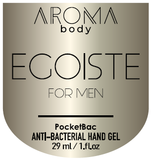 Антисептик 29мл 1шт AROMA BODY Egoiste, гель для рук санитайзер для мужчин PocketBac For Men парфюмированный,, фото 2