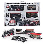 Детская Железная дорога Эра паровозов 701830/YY-126, музыка, свет, дым, 420 см, на батарейках, в коробке