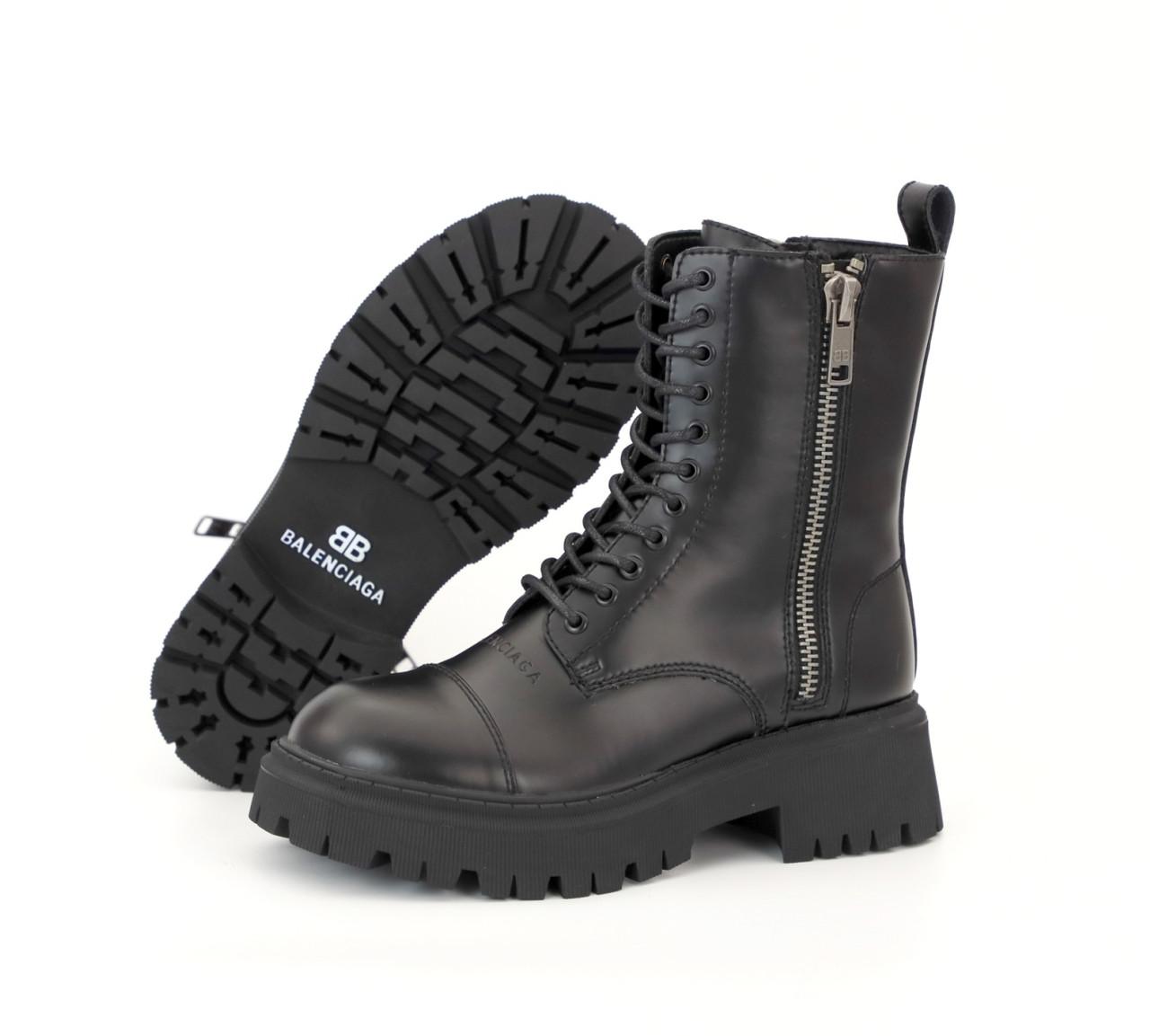 Зимние женские ботинки Balenciaga Tractor. ТОП Реплика ААА класса.