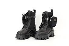 Зимние женские ботинки PRADA Monolith. ТОП Реплика ААА класса., фото 3