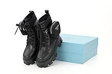 Зимние женские ботинки PRADA Monolith. ТОП Реплика ААА класса., фото 2