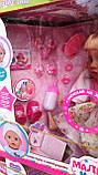 Кукла с волосами Сестра Беби Борн 915 B, шарнирные ноги, звук, 46 см, сумочка, туфли, заколочки, фото 3