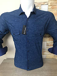 Джинсово-коттоновая рубашка Paul Smith