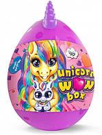 Детский игровой набор для творчества Яйцо сюрприз Пони Danko Toys Unicorn WOW BOX 20 сюрпризов