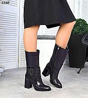 Жіночі шкіряні лакові демісезонні чоботи на підборах 35,36,37,38, р чорнильний