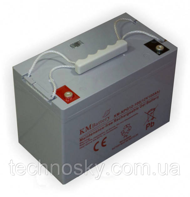 Гелевая аккумуляторна батарея KM Battery KM-NPG12-100