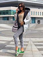 Жіноча зимове двостороння куртка на силіконі, фото 3