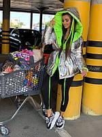 Жіноча зимове двостороння куртка на силіконі, фото 7